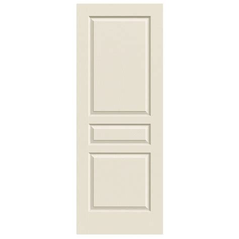 3 Panel Interior Door Jeld Wen 30 In X 80 In Woodgrain 3 Panel Primed Molded Interior Door Slab Thdjw136400013 The