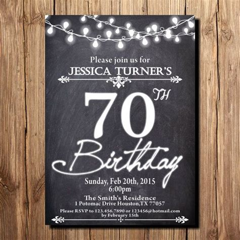 Best 25 70th Birthday Invitations Ideas Only On Pinterest Surprise Birthday Invitations 60th 70th Birthday Invitation Templates