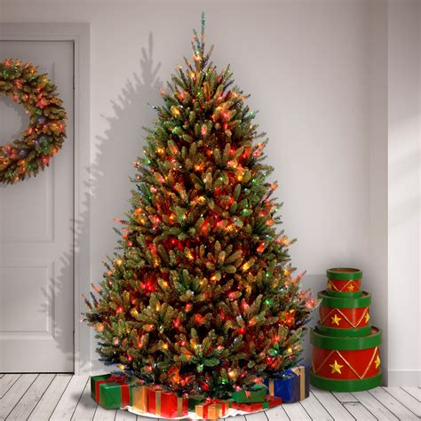 fir christmas tree ideas national tree co fraser 7 5 green fir artificial tree with 1000 multi