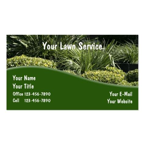 landscaping business cards exles