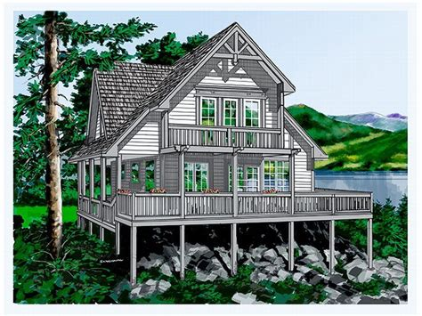vacation home plans waterfront vacation house plan