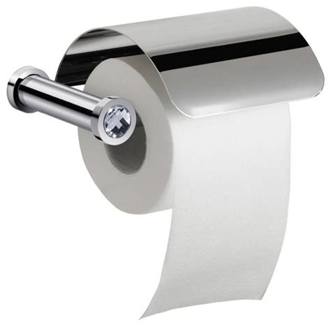 decorative single toilet paper cover wall mounted toilet roll holder with cover and white
