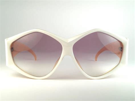 Origami Sunglasses - new vintage christian 2230 70 white origami optyl