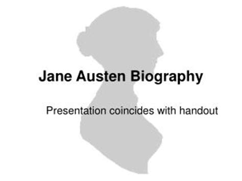 biography jane austen ppt ppt jane schaeffer writing program powerpoint