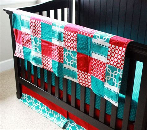 red and turquoise bedding crib bedding red and turquoise