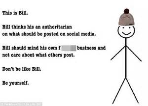 Block Be Like Bill Stick Figure Memes On Facebook - backlash against bill the stick man who tells people how