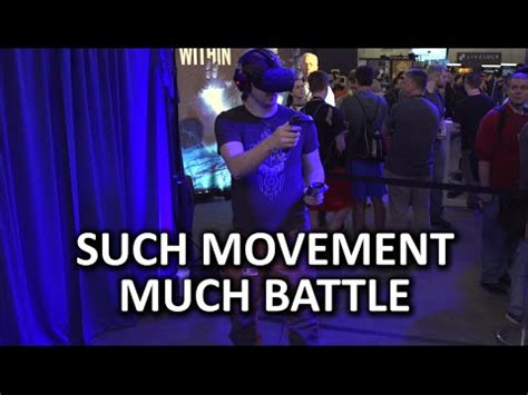 the best htc vive demo so far! raw data, intel booth