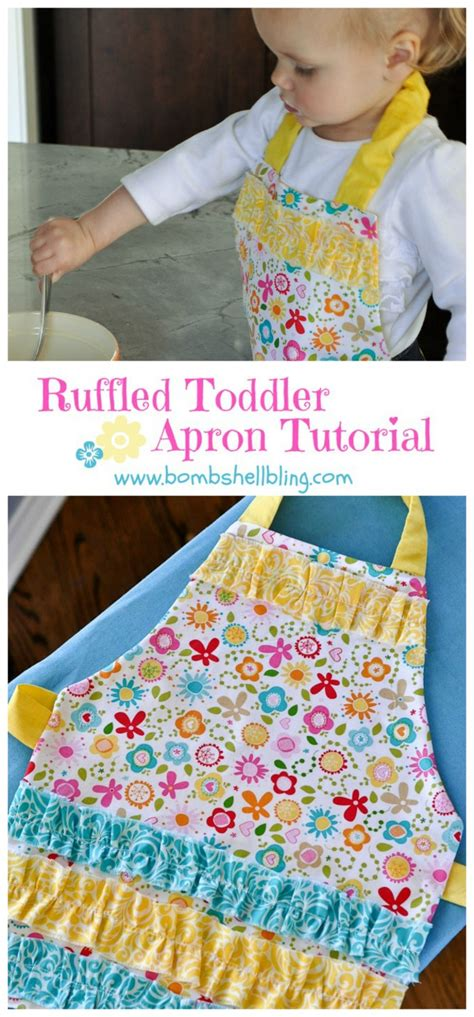 apron tutorial ruffle toddler ruffle apron tutorial