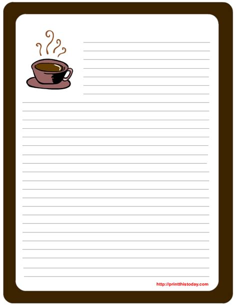 memo pad template letter pad note pad stationery free printables for