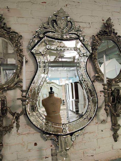 Painted Cottage Chic Shabby Venetian Mirror Shabby Chic Mirror