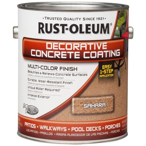 rust oleum concrete stain 1 gal decorative