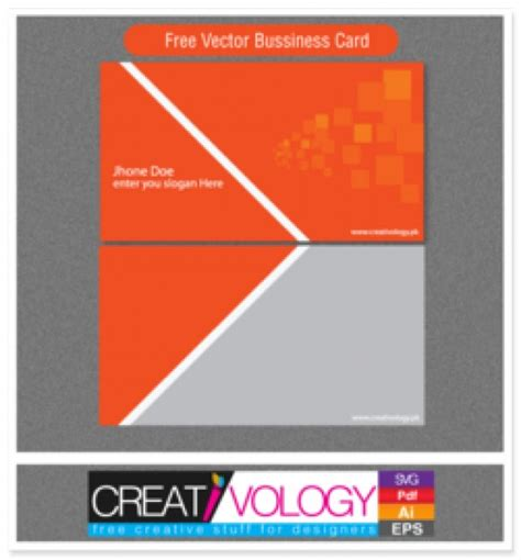 free orange and blue business card templates orange and grey business card template vector free