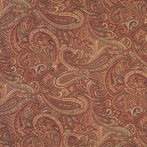 brown paisley upholstery fabric chocolate brown and coral abstract paisley damask