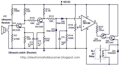 electronic circuits for beginners electronics hobby circuits for beginner s ultrasonic switch