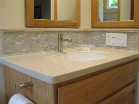 backsplash for bathroom 30 ideas of using glass mosaic tile for bathroom backsplash