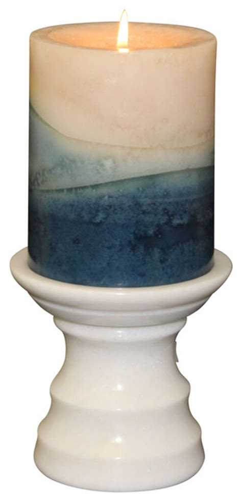 White Pedestal Candle Holder White Pedestal Candle Holder Candleholders By Marble