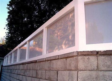 Plexiglass Fence Plexiglass Wall Extension Modern Exterior Los