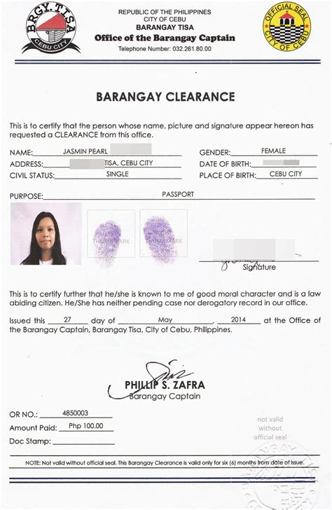 sle of barangay certification letter ms office resume templates 2013 cashier definition for