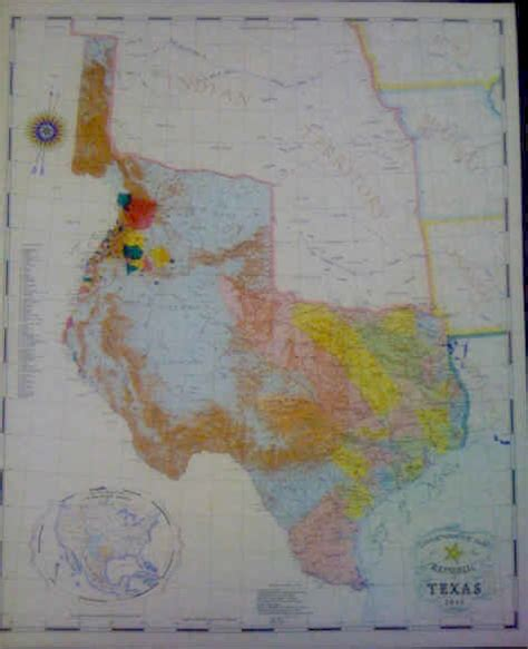 republic of texas map 1845 maps