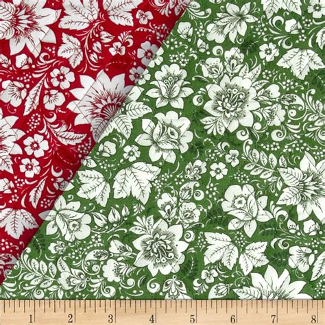 Pre Quilted Fabric by Season S Greetings Faced Quilted Floral