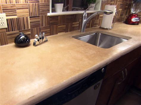 Concrete Kitchen Countertop Options Hgtv Concrete Kitchen Countertops