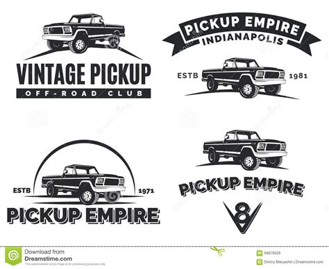 Auto Logo S 4x4 by Set Of Suv Pickup Car Vector Emblems Labels And Logos