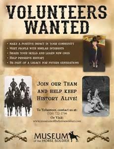 Volunteers Wanted Poster Template by Volunteer Museum Of The Soldier