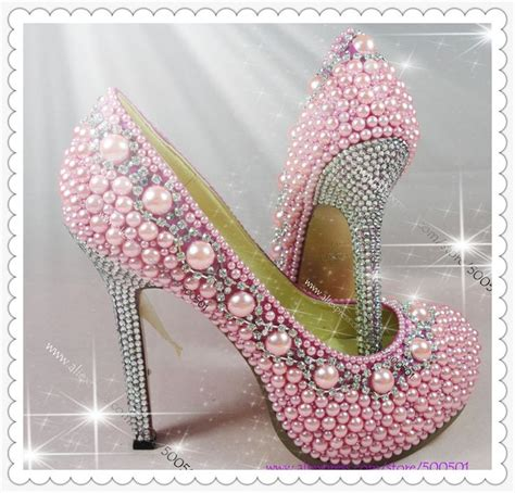 Pearl Pink Shoes high heels shoes pink pearl proforma pumps