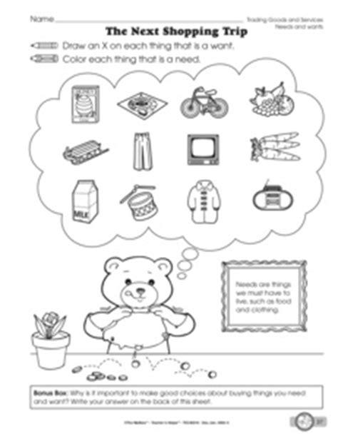 kindergarten activities needs and wants results for needs and wants worksheet kindergarten