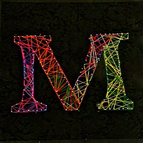 String On Canvas - string mixed media by m