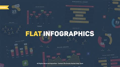flat design after effect project videohive flat design infographics free template free
