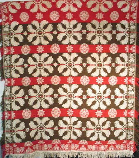 antique coverlets architectural border antique biederwand damask coverlet pa