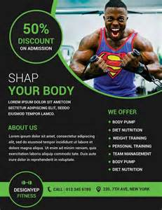 fitness flyer template free and fitness free flyer psd template