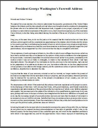 george washington carver book report president george washington s farewell address student