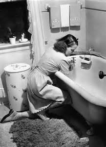 Washing Dishes In Bathtub Inside The Demanding Life Of An American Mother In 1941