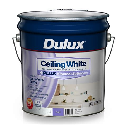 dulux bathroom paint price dulux 15l ceiling white plus kitchen bathroom paint