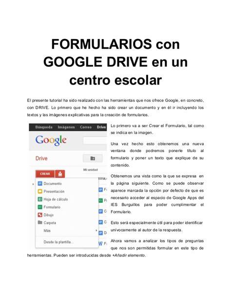 www compensar com con formularios formularios con google drive