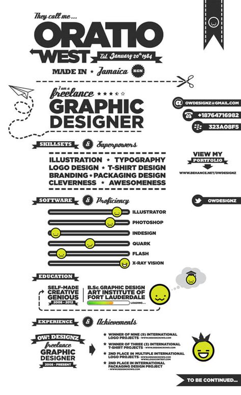 Resume Graphic Design Infographic 15 Amazing Infographic Resumes To Inspire You