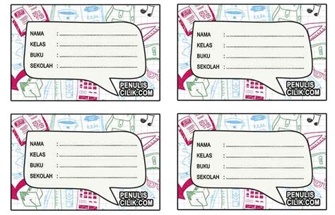 cara untuk membuat nama korea cara membuat stiker label nama bergambar penulis cilik