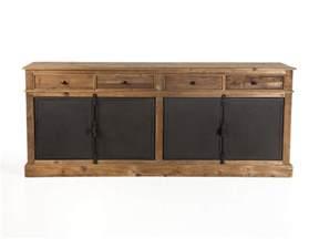 buffet bas en bois avec tiroirs et portes en m 233 tal dynastie