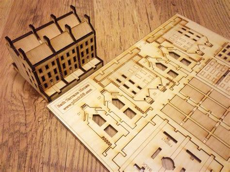 Puzzle Kayu 3d Plane Model B city of bath georgian house flat pack model miniature