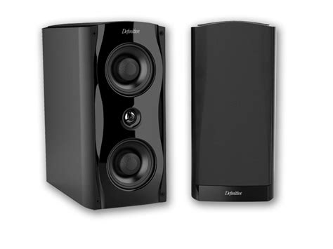 definitive technology sm55 bookshelf speaker black
