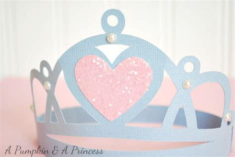 How To Make A Paper Princess Crown - cinderella favors
