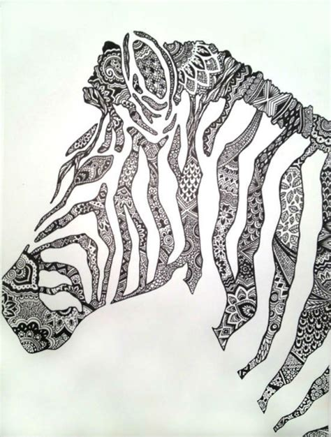 pattern drawing animals saatchi art artist cady bogart pen and ink drawing quot zebra quot