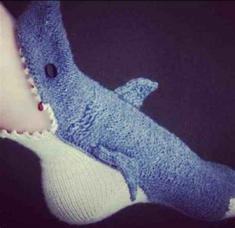 knitted shark socks shark slippers knitting crochet