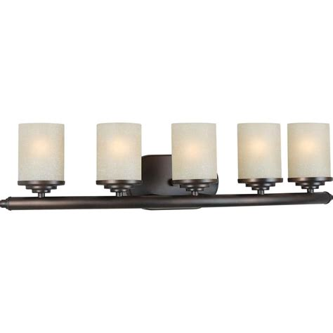 home bath vanity lights talista oralee 5 light antique bronze bath vanity light