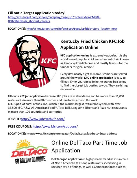 Cover Letter For Kfc Application Letter For Kfc