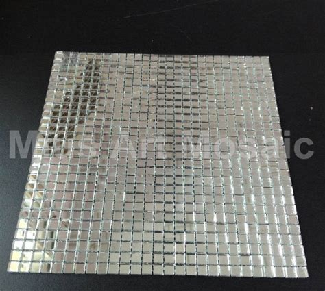 mirror mosaic tile backsplash mius mosaic plain silver mirror mosaic glass
