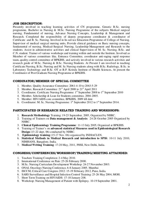 Job Responsibilities Resume 1 cv of dr rs mehta