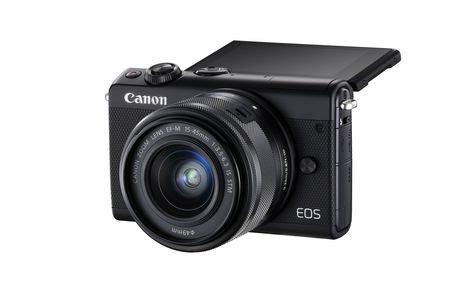 Canon Eos M100 Kit 15 45mm Is Stm Putih White canon eos m100 kit ef m 15 45mm is stm noir walmart canada
